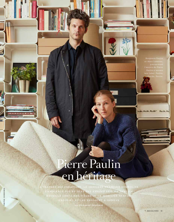 Cover of T-Magazine - Le Temps Ch