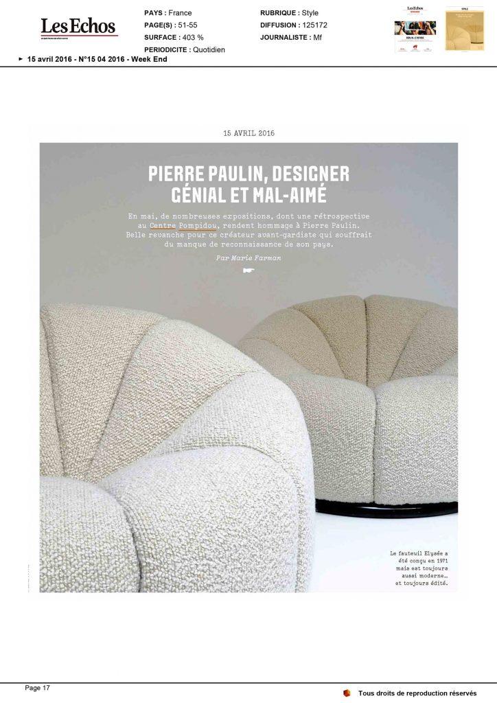 Cover of Les Echos